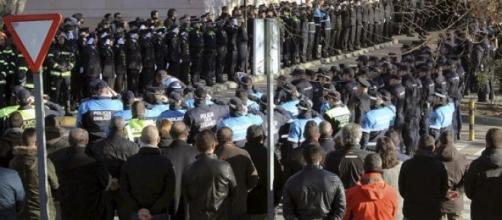 Despiden compañeros al policía fallecido