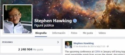 Stephen Hawking a través de las redes sociales