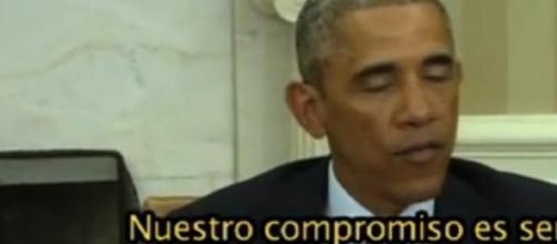 Barack Obama en el aviso a medios de comunicación