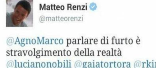 Il tweet di Renzi su gol Astori