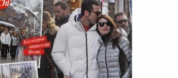 Gigi Buffon e Ilaria D'Amico a Courmayeur.