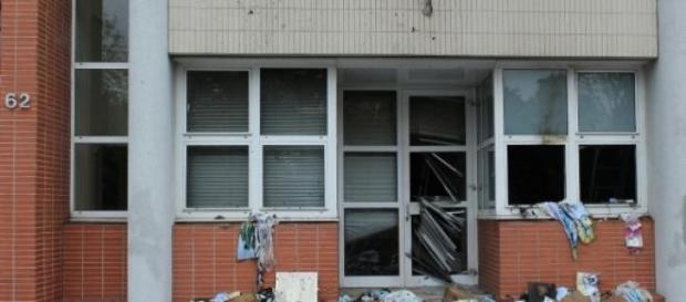 Redacção em ruínas depois de um ataque em 2011.