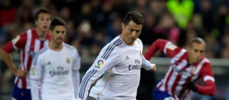Ronaldo se fue en blanco ante  Atlético de Madrid