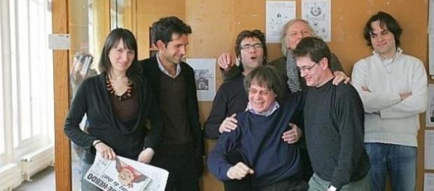 Foto di gruppo in redazione
