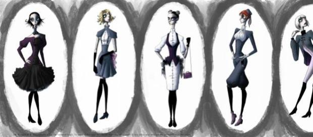 moda si capriciile ei surprinse intr-o caricatura