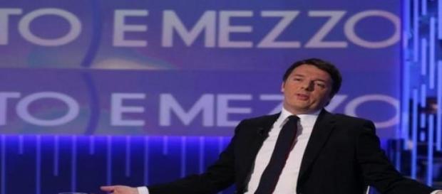 Premier Renzi alla trasmissone tv Otto e Mezzo