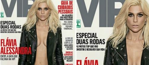Flávia Alessandra em capa da VIP. Polêmica