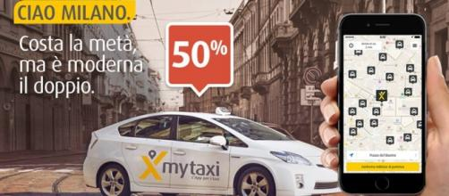 Sconto MyTaxi Milano del 50% sulle corse