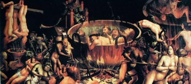 "Obra roubada da Rua da Rosa: ""Inferno""."