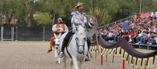 Don Quijote y Sancho en el Mercado Cervantino