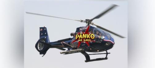 Helicóptero do 'Pânico' é flagrado na Fazenda 8