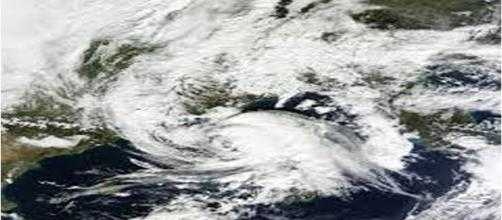 Fotografia di un ciclone mediterraneo