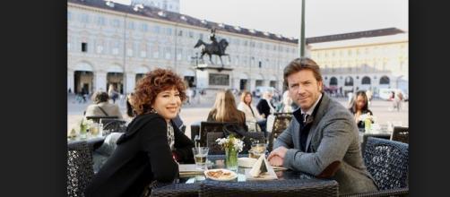 l'attrice Veronica Pivetti con Paolo Conticini