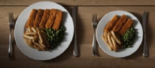 La medida de los platos influye en lo que comemos