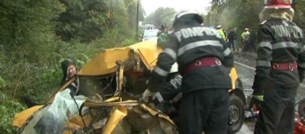 Grav accident pe DN 7C la Băiculești