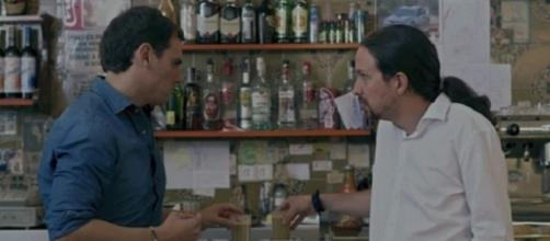 Albert Rivera y Pablo Iglesias en 'Salvados'