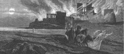 Alexander Bida - Burning Sodoma - 1874