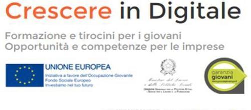 Crescere in Digitale,3mila tirocini per 3mila euro