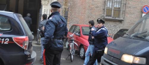 I carabinieri in azione durante il blitz