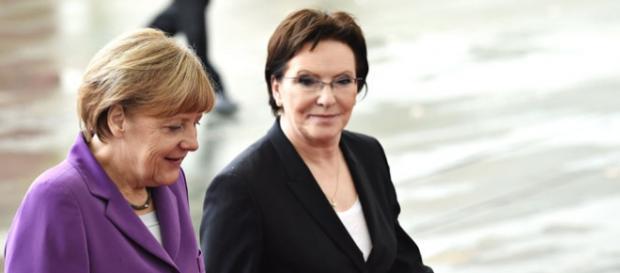 Kanclerz Angela Merkel i Premier Ewa Kopacz.