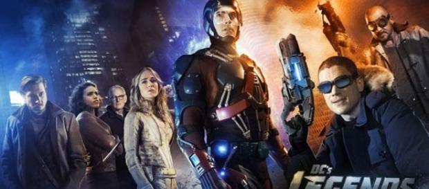 Poster ufficiale della serie Legends of Tomorrow