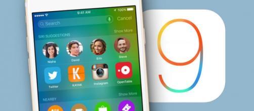 Aggiornamento iOS 9 per iPhone 4S, 5 e 5S