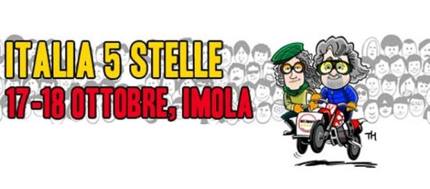 Eletti ed attivisti del M5S insieme ad Imola.