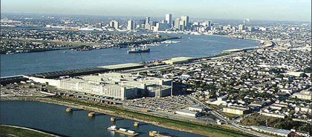 Nova Orleans, uma das cidades costeiras.