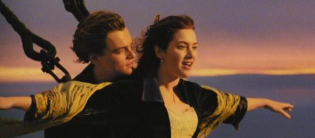 Una scena celebre del film Titanic