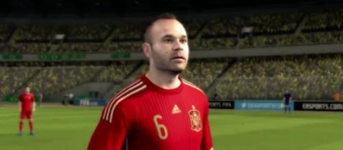 Andrés Iniesta con España en FIFA 16