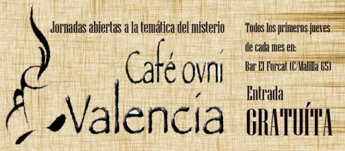Cartel informativo de Cafe Ovni Valencia