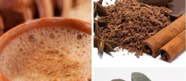 Smoothie espumoso de cacao y canela