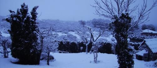 Ávila y la nieve del Guadarrama
