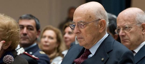 Il presidente emerito, Giorgio Napolitano