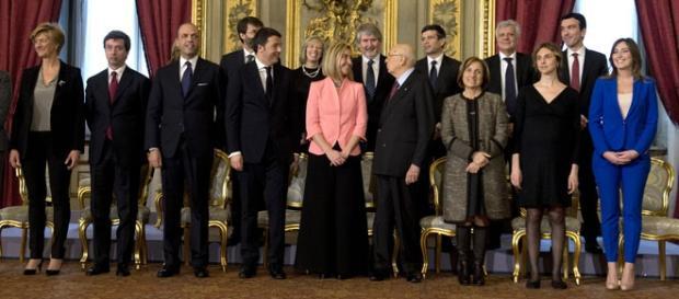 L'istantanea del giuramento del governo Renzi