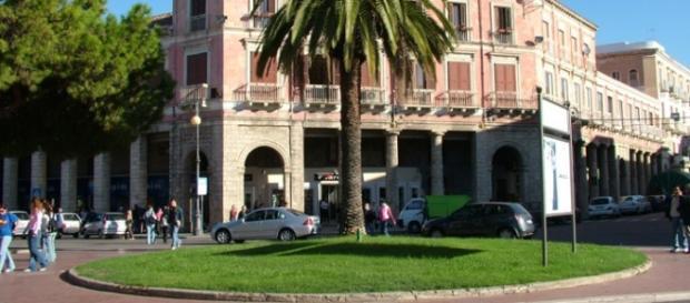 Piazza Pitagora, il cuore della città di Crotone.