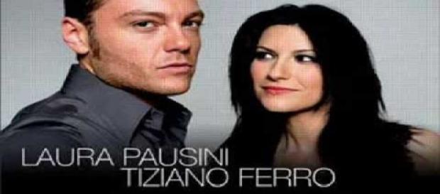 Tiziano Ferro e Laura Pausini Rai 1 (foto youtube)