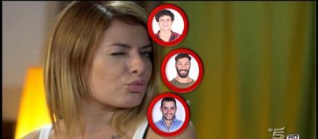 Verdiana e i concorrenti Thiago, Antonio e Diego