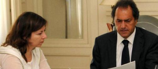 Daniel Scioli con Silvina Batakis