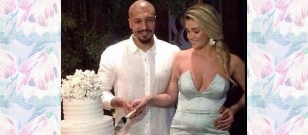 Aline e Fernando se casaram em BH