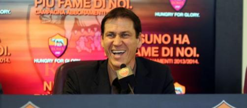 Il tecnico Garcia, in conferenza stampa