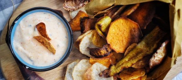 Chips di verdure al forno per Halloween