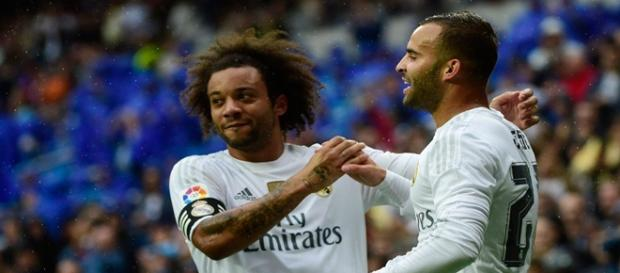 Marcelo y Jesé celebran el tercer gol