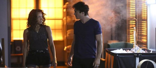 Bonnie e Damon in TVD 7x03 'Age of Innocence'
