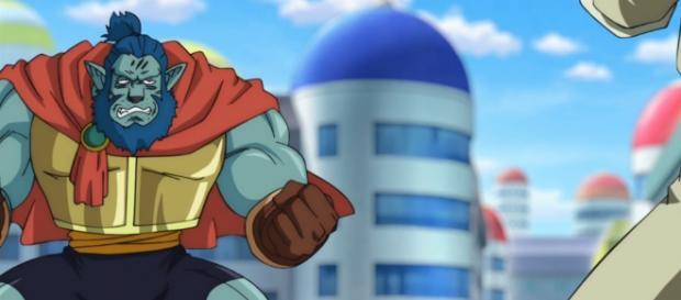 Garbi a punto de enfrentarse con Goku