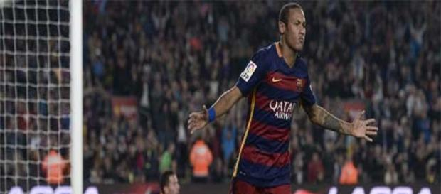 Neymar celebrando unos de sus goles