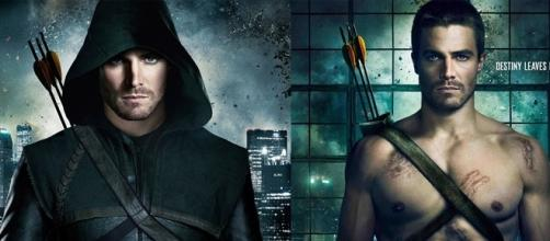 Cartel anunciador de la serie Arrow