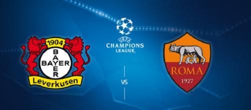 Champions, Bayer Leverkusen-Roma in tv