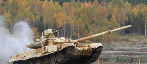 Tanque ruso operativo en guerra