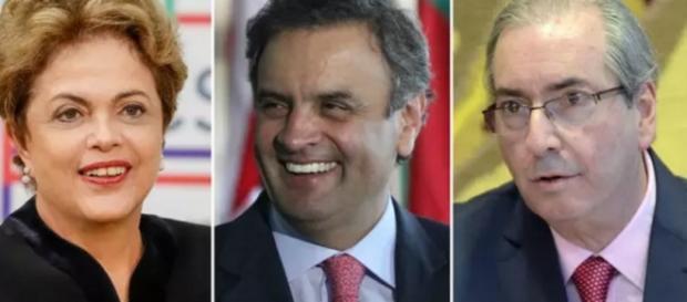 Dilma, Cunha e Aécio trocam tiros na Globo